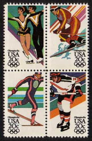 view larger image for Commemoratives 1983 - 1987 - Middle Period Commemoratives: SG Number 2067a / Scott Number 20c x4 (1984) - Winter Olympics <br/> Block of four