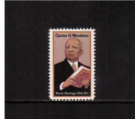 view larger image for Commemoratives 1983 - 1987 - Middle Period Commemoratives: SG Number 2070 / Scott Number 20c (1984) - Black Heritage Series - Carter G. Woodson