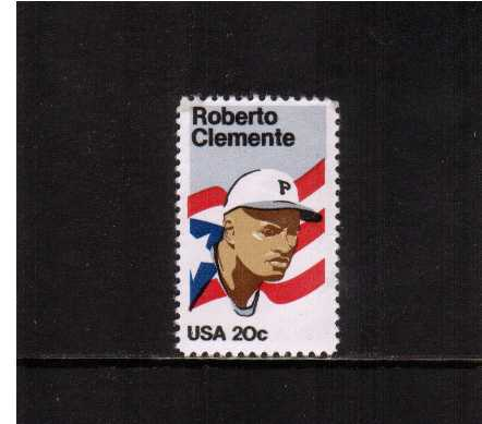 view larger image for  : SG Number 2094 / Scott Number 2097 (1984) - Roberto Clemente