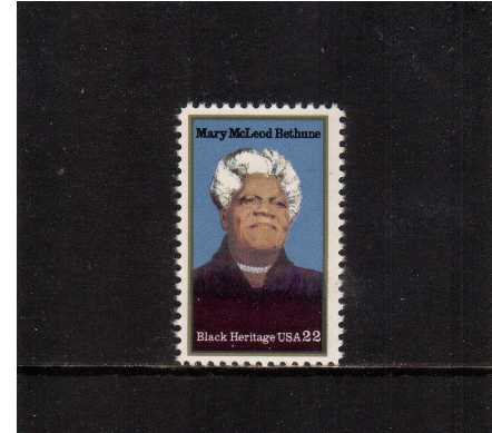 view larger image for  : SG Number 2145 / Scott Number 2137 (1985) - Black Heritage Series - Mary McLeod Bethune