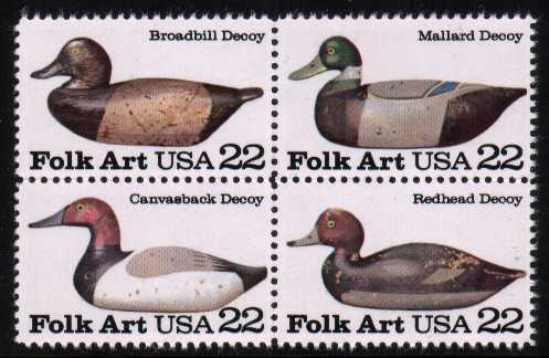 view larger image for  : SG Number 2149a / Scott Number 2141a (1985) - Duck Decoys<br/>