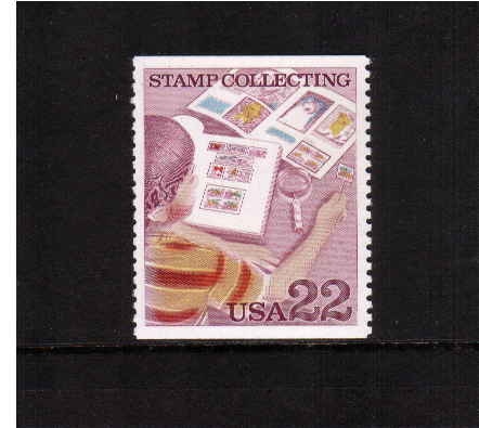 view larger image for  : SG Number 2210 / Scott Number 2199 (1986) - Stamp Collecting - Boy and Stamp Albums