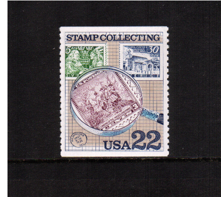 view larger image for  : SG Number 2211 / Scott Number 2200 (1986) - Stamp Collecting - Magnifier Glass and Stamps