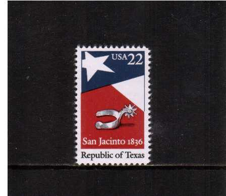 view larger image for  : SG Number 2215 / Scott Number 2204 (1986) - Texas, 150th Anniversary