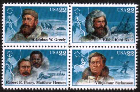 view larger image for  : SG Number 2227a / Scott Number 2223a (1986) - Polar Explorers<br/>