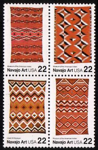 view larger image for  : SG Number 2232a / Scott Number 2238a (1986) - Navajo Art - Blankets