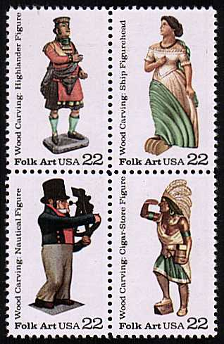 view larger image for  : SG Number 2237a / Scott Number 2243a (1986) - Woodcarved Figurines