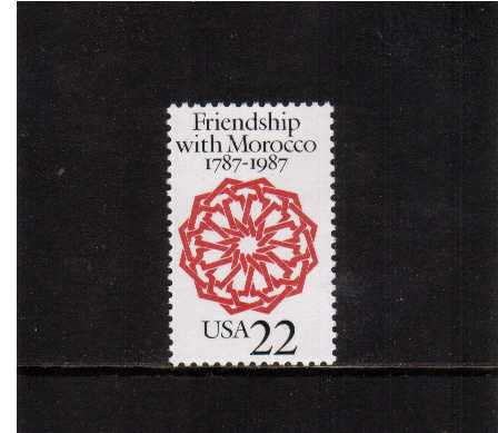 view larger image for  : SG Number 2307 / Scott Number 2349 (1987) - U.S.-Morocco Relations
