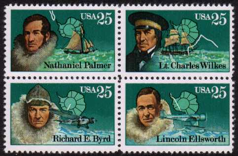 view larger image for  : SG Number 2373a / Scott Number 2389a (1988) - Antarctic Explorers<br/>