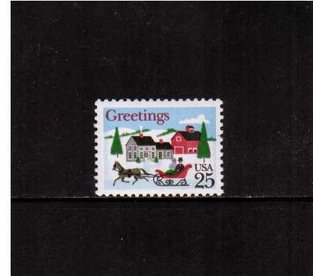 view larger image for  : SG Number 2380 / Scott Number 2400 (1988) - Christmas - Horse & Sleigh