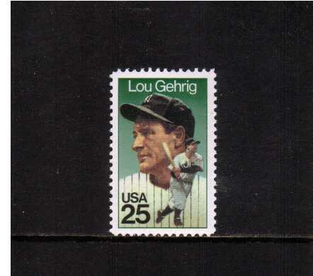 view larger image for  : SG Number 2400 / Scott Number 2417 (1989) - Lou Gehrig