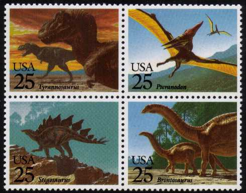 view larger image for  : SG Number 2410a / Scott Number 2425a (1989) - Prehistoric Dinosaurs