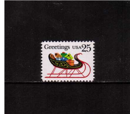 view larger image for  : SG Number 2415 / Scott Number 2428 (1989) - Christmas - Sleigh