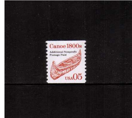 view larger image for  : SG Number 2487 / Scott Number 2454 (1991) - Canoe <br/> 