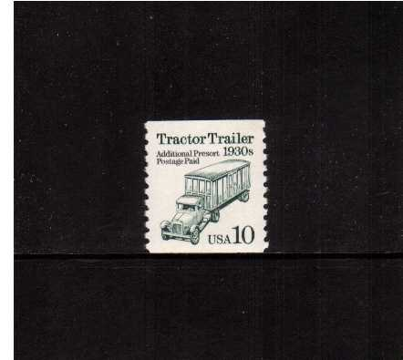 view larger image for  : SG Number 2486 / Scott Number 2457 (1991) - Tractor Trailer<br/>Engraved - Cream Paper<br/>Coil