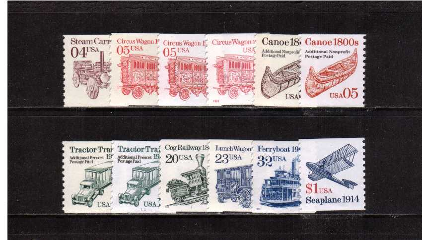 View USA Stamps Random Selection: 2451-2468 - 1990