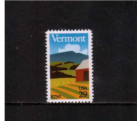 view larger image for  : SG Number 2560 / Scott Number 2533 (1991) - Vermont Bicentenary