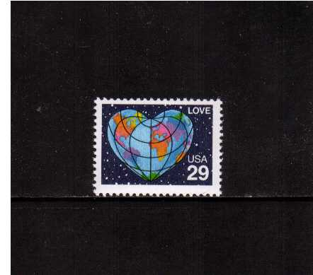view larger image for  : SG Number 2572 / Scott Number 2535 (1991) - LOVE<br/>