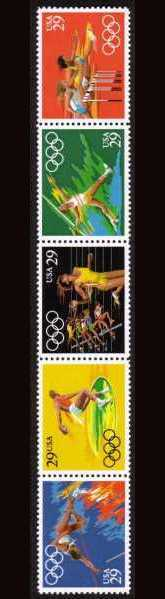 view larger image for  : SG Number 2599a / Scott Number 2557a (1991) - Summer Olympics<br/>