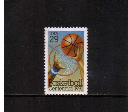 view larger image for  : SG Number 2604 / Scott Number 2560 (1991) - Basketball, 100th Anniversary