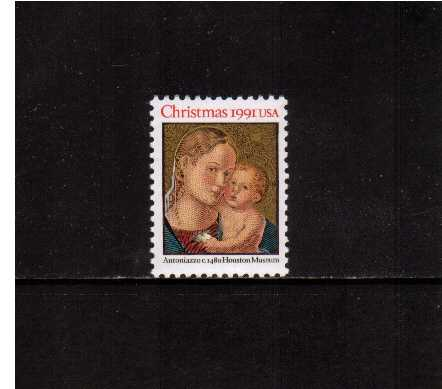 view larger image for  : SG Number 2636 / Scott Number 2578 (1991) - Christmas - Madonna and Child