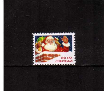 view larger image for  : SG Number 2637 / Scott Number 2579 (1991) - Christmas- Santa and Chimney<br/>