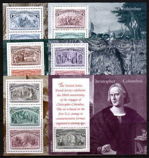 view larger image for  : SG Number MS2660a-f / Scott Number 2624-9 (1992) - Christopher Columbus<br/>