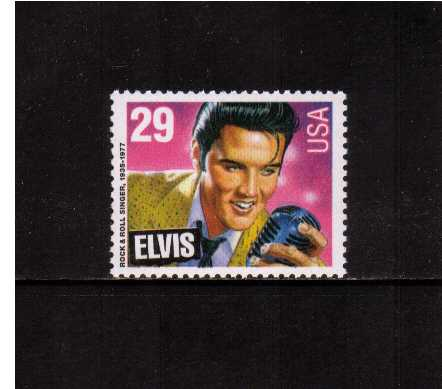 view larger image for  : SG Number 2769 / Scott Number 2721 (1993) - Elvis Presley<br/>Inscribed 'ELVIS' only