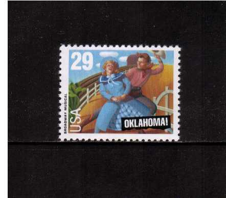 view larger image for  : SG Number 2779 / Scott Number 2722 (1993) - 'Oklahoma' Musical<br/>Sheet stamp