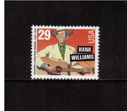 view larger image for  : SG Number 2814a / Scott Number 2723 (1993) - Hank Williams