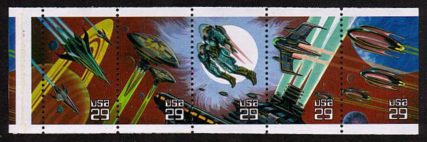 view larger image for  : SG Number 2774a / Scott Number 2745a (1993) - Space Fantasy<br/>