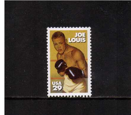 view larger image for  : SG Number 2837 / Scott Number 2766 (1993) - Joe Louis, boxer