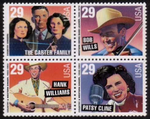 view larger image for  : SG Number 2818a / Scott Number 2774a (1993) - Country and Western Music<br/>