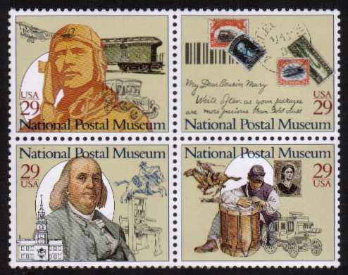 view larger image for  : SG Number 2842a / Scott Number 2782a (1993) - National Postal Museum <br/>Block of 4