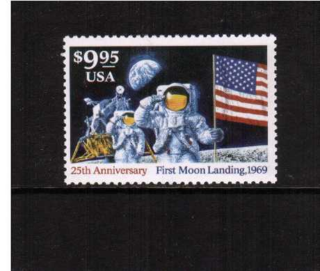 view larger image for  : SG Number 2921 / Scott Number 2842 (1994) - 25th Anniversary of Moon Landing