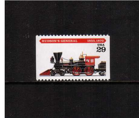 view larger image for  : SG Number 2923 / Scott Number 2843 (1994) - Locomotives - Hudson's General<br/>Booklet single