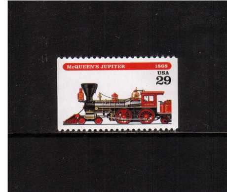 view larger image for  : SG Number 2924 / Scott Number 2844 (1994) - Locomotives - McQueen's Jupiter<br/>Booklet single