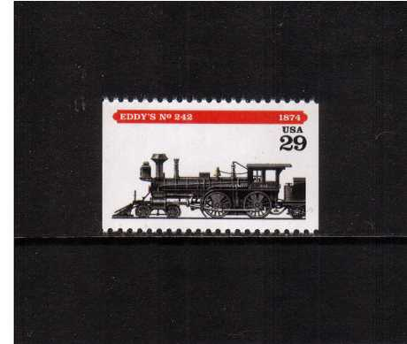 view larger image for  : SG Number 2925 / Scott Number 2845 (1994) - Locomotives - Eddy's No 242<br/>Booklet single