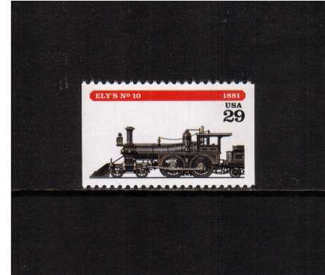 view larger image for  : SG Number 2926 / Scott Number 2846 (1994) - Locomotives - Ely's No 10<br/>Booklet single