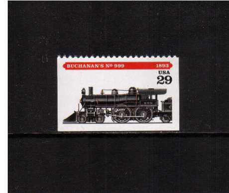 view larger image for  : SG Number 2927 / Scott Number 2847 (1994) - Locomotives - Buchanan's No 999<br/>Booklet single