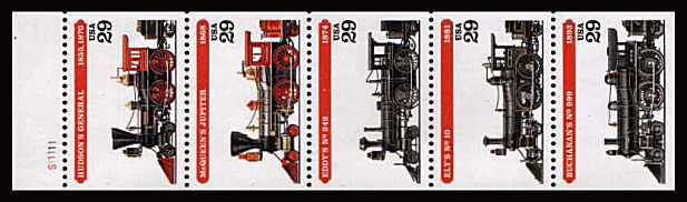 view larger image for  : SG Number 2927a / Scott Number 2847a (1994) - Locomotives<br/>