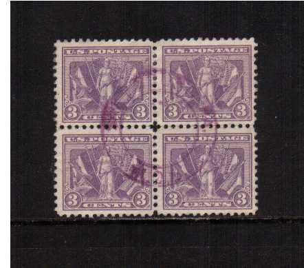 view larger image for  : SG Number 546 / Scott Number 537 (1919) - A stunning fine used block of four cancelled with a double ring Circular Date Stamp. Superb!