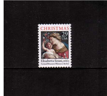 view larger image for  : SG Number 2970 / Scott Number 2871 (1994) - Christmas - Madonna and Child<br/>Sheet stamp  Perforation 11.5 x 11