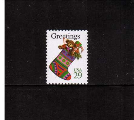 view larger image for  : SG Number 2972 / Scott Number 2872 (1994) - Christmas - Christmas Stocking <br/>Sheet stamp