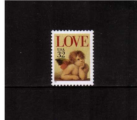 view larger image for  : SG Number 3035 / Scott Number 2957 (1995) - LOVE Cherub <br/>