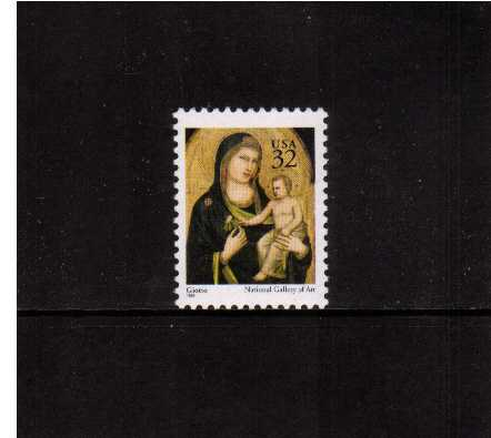 view larger image for  : SG Number 3153 / Scott Number 3003 (1995) - Christmas - Madonna and Child <br/>Sheet stamp