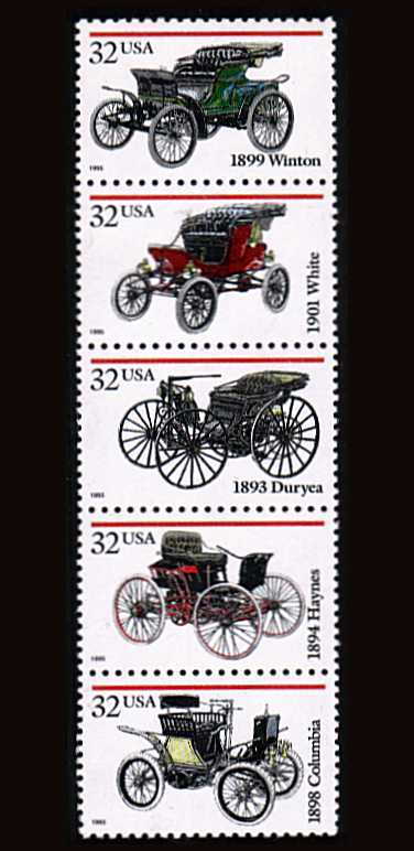 view larger image for  : SG Number 3163a / Scott Number 3023a (1995) - Antique Cars<br/>