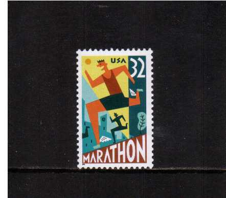 view larger image for  : SG Number 3183 / Scott Number 3067 (1996) - Marathon Runner