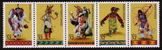 view larger image for  : SG Number 3211a / Scott Number 3076a (1996) - American Indian Dances<br/>
