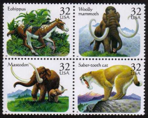 view larger image for  : SG Number 3215a / Scott Number 3080a (1996) - Prehistoric Animals<br/>